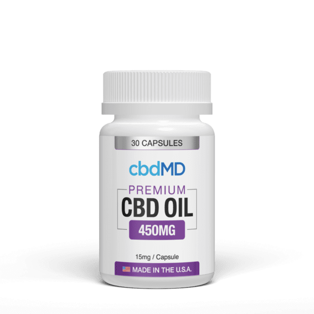 cbdMD Oil Capsules 450 mg, call the reliable Cedar Lake pain relief pharmacy to use CBD for back pain.