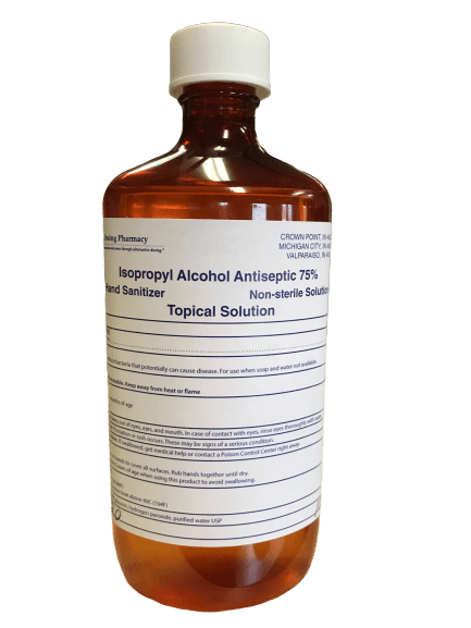 Topical solution of alcohol bottle, for best CBD oil for pain therapy Portage.