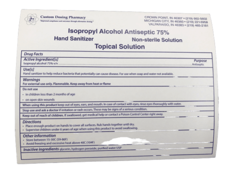 Label graphic of topical solution, contact our Portage pharmacy for cannabis oil.